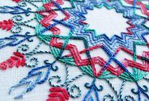 Broderi/embroidery, batikk, søm, tekstil