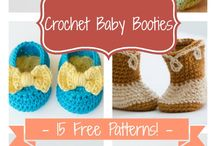 chrochet baby booties