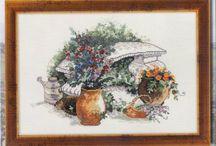 вышивка садовое