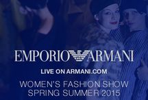 Emporio Armani Spring / Summer 2015 Womenswear / by ARMANI