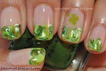 St. Patrick's Day Nail -  Uñas de San Patricio /  St. Patrick's Day Nail , Uñas de San Patricio, uñas verdes, green nails