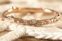 Wedding ring twig branch