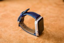 Leather Apple Watch Band - Parlement Blue Color