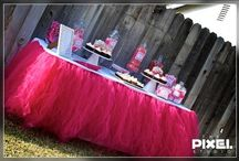 pink and black party ideas