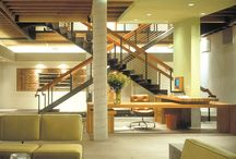 Straw Dogs / This project involved the demolition of an interior space in order to transform an existing industrial brick building into the company's signature headquarters. The final product reflects the client's desire for an egalitarian and communal workplace, while maintaining functionality and efficiency. The 10,000 sq. ft. space includes executive offices, conference rooms, lounge areas, informal meeting areas, edit bays, and administrative offices. Project by Pugh + Scarpa Architects