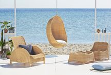 EXTERIOR / The Exterior-collection is made from Alu-Rattan, which consists of a strong aluminum frame woven with ArtFibre. The material maintenance free and can withstand all weather conditions. This means what original rattan models previously only suitable for interior use, now can be used in  the garden, on the terrace or the balcony.