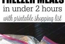 Freezer Meals / Freezer cooking, healthy meal planning, freezer meals