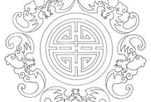 Pattern ancient Vietnam - China