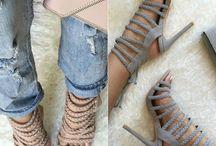Sandale nude / grey