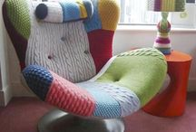 knitted/crochetet chairs and stuff