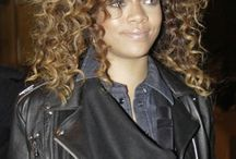 Hair, curly, color & style