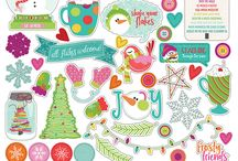 Snowball Fight / Snowball Fight scrabook collection by Becky Fleck