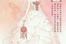 Wedding dress and dress princess