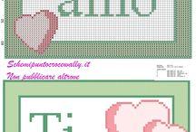 Schemi punto croce gratis San Valentino / Schemi punto croce gratis San Valentino