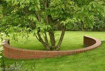 Murki ogrodowe, ogrodzenia, ścieżki, podjazdy - inspiracje