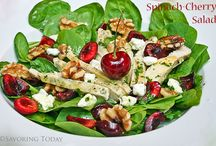 Salads & Dressing Recipes / Salad recipes as sides or main dishes and dressing ideas to go with them.