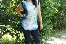 Selyem blúz, felső, tunika / Silk dress / Kézzel festett selyem blúz, felső, tunika különböző mintákkal. Egyedi darabok egyéniségeknek.  Hand painted silk dress, blouse from Silkyway - www.silkywaysilk.com