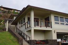 Maui, Hawaii / The herring bone pattern looks of our Prairie Style cable railing looks right at home with the architecture of this house in Hawaii.