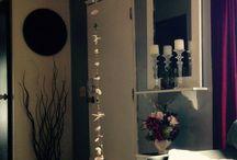 Rain chain in the livingroom / Hang them indoors