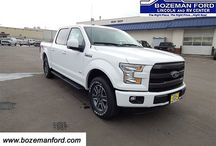 Ford F-150 in Bozeman, MT / Bozeman Ford is home to the best selection of Ford F-150 in Bozeman, MT.  The most popular model of Ford F-150 that we carry is the Ford F-150 SuperCrew Cab with 4x4.  If you are looking for a specific model of F-150 we welcome you to contact us today.  We'll do our best to find one to fit your needs, and get you rolling down the Montana roads.