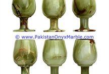 ONYX WINE SHERRY GLASSES SET GREEN ONYX DECORATIVE STONE GLASSES,