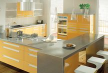 Kitchen Colour Trends : Yellow, Teal, Grey Kitchen Looks / Kitchen Colour Trends 2016. Take a looks at some of the kitchen colour trends for 2016 and how you can recreate these looks with your new kitchen OR kitchen door replacements. Yellows Teals and Greys