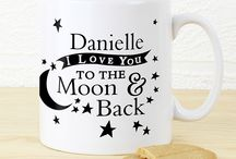 Personalised To The Moon & Back gifts