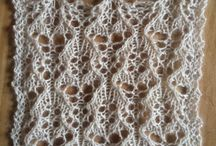 Knitted lace patterns