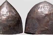 Ancient helmets Near Eastern helmets / Assyrian helmet - Sumerian helmet - Urartian helmet - Mesopotamian helmet