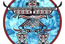 My Native American Art / My artwork in the Native American, First Nations Haida & Tlingit styles.  Pacific Northwest Coastal artwork, as seen in British Columbia, Yukon, Washington and Alaska.