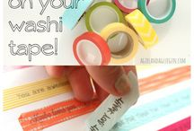 Wa Wa Wa Washi / Washi Tapes & Projects / by Jacque (j.ajabad) A