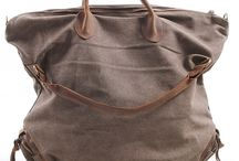 Leather Canvas Bags / Torby bawelniane skorzane