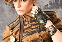 Leather and Lace ,Vintage and linens / Fantasies ( Some Steam Punk)