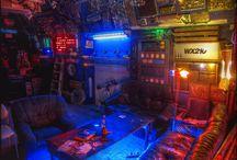 Cyberpunk Interior Space