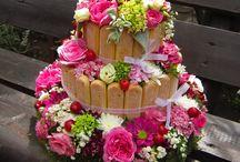flower cake / Baptism decoration