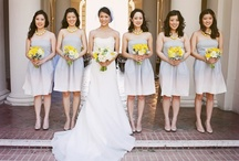 Bride & Bridesmaids   Bouquets   White, Grey & Yellow