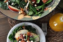 Spinach and cheese salad