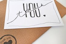 Caligraphy gift card
