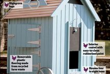 Pretty Chicken Houses / Posh Coops for Posh Chickens!