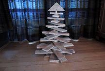 kerstbomen / houten kerstbomen