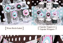 Mod Party Kits / Mod Party Kits™ are everything you need to style your party in one handy hassle-free kit. Each kit includes invitations with matching envelopes, address labels, favor tags, water bottle labels, mini decor stickers, cupcake wrappers, cupcake toppers, pennant banner featuring baby designs, party die-cut party decorations, signs, menu cards and personalized round labels. The best part? They will make your celebration look beautiful! / by Seshalyn's Party Ideas