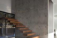 Pinterior- Modern minimal -brick, glass, wood, concrete
