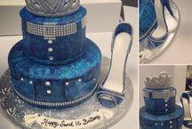 Denim and diamonds cake