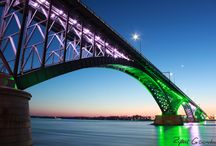 The Peace Bridge / Pictures of The Peace Bridge in Buffalo, NY USA and Fort Erie, Canada.