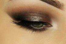Glamour eyes / Glitter, smoke and lashes!