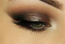 Glamour eyes / Glitter, smoke and lashes!