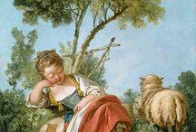 18th century: Shepherdess