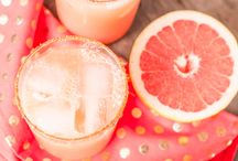 Happy hour / Summer spritzer ideas because who doesn't like a good party. Alcoholic and non alcoholic drinks