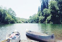 Playing on the Russian River, Guerneville, California #WestsonomaInn&Spa / 3 blocks from West Sonoma Inn & Spa