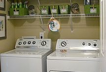 Laundry Room Ideas / Have just a laundry closet with no doors. Ideas for making it look nice all the time.